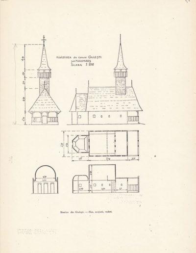 Plan Mănăstirea (arhiva DJCMM)