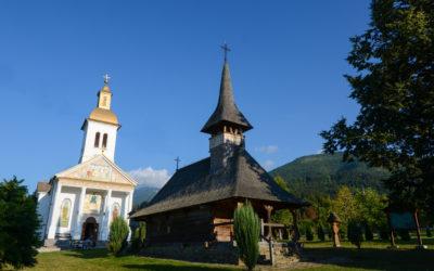 """Biserica de lemn """"Adormirea Maicii Domnului"""" a fostei mănăstiri """"Izvorul Negru"""" din Moisei"""