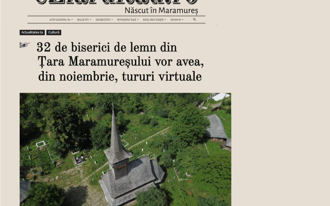 EZiarulTau – 32 de biserici de lemn din Țara Maramureșului vor avea, din noiembrie, tururi virtuale